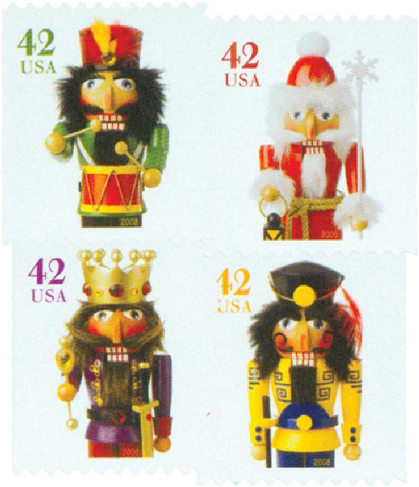 2008 42c Contemporary Christmas: Holiday Nutcrackers, vending booklet