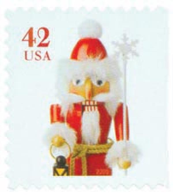 2008 42c Contemporary Christmas: Santa Nutcracker, vending booklet