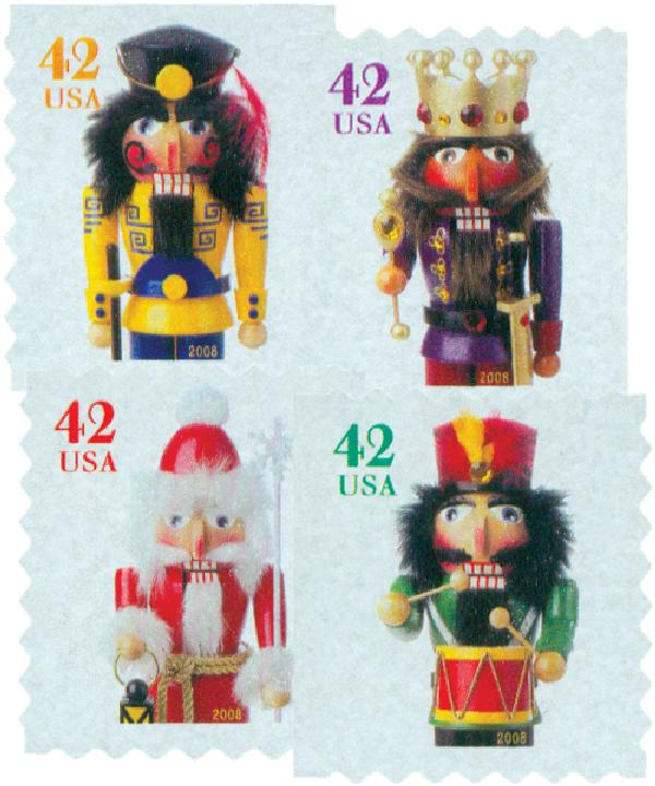 2008 42c Contemporary Christmas: Holiday Nutcrackers, ATM booklet
