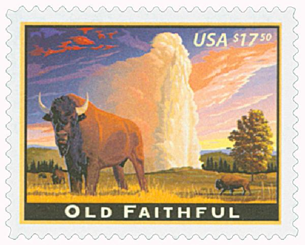 2009 $17.50 Old Faithful, Express Mail