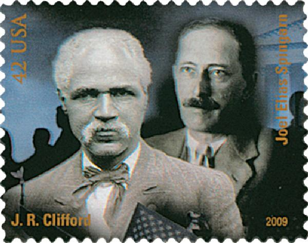 2009 42c Civil Rights Pioneers: J.R. Clifford and Joel Elias Spingarn