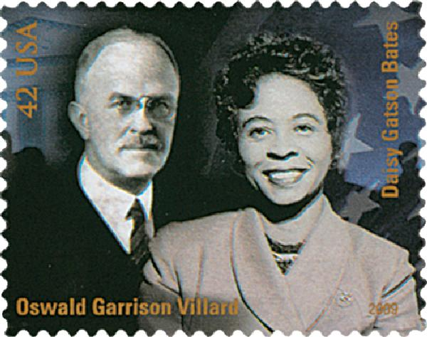 2009 42c Civil Rights Pioneers: Oswald Garrison Villard and Daisy Bates