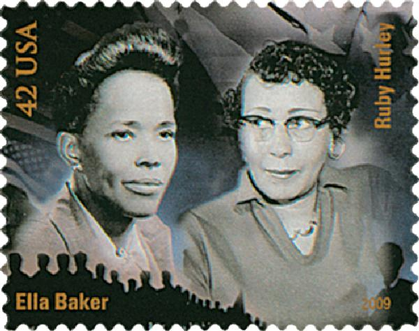 2009 42c Civil Rights Pioneers: Ella Baker and Ruby Hurley