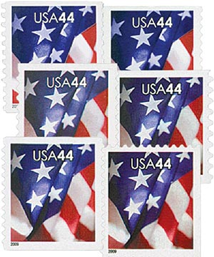 2009 US Flags, set of 6 stamps