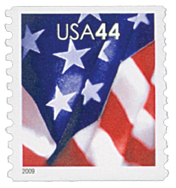 2009 44c Flag, coil