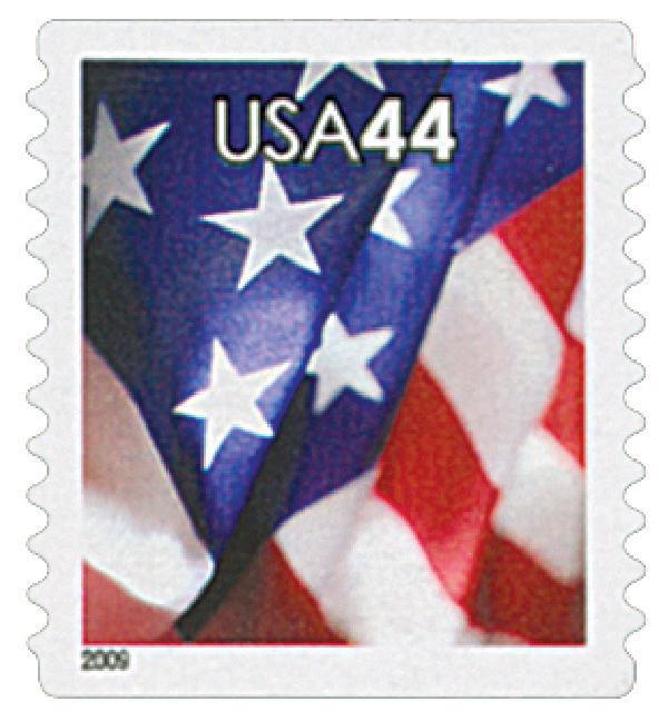 2009 44c Flag, coil, perf 11