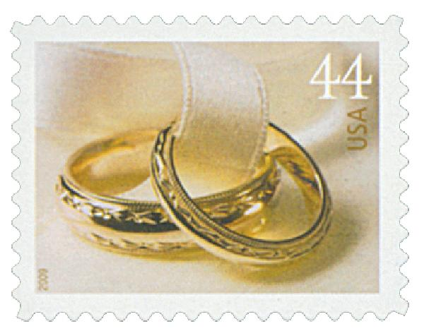 2009 44c Wedding Series: Wedding Rings