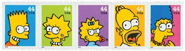2009 44c The Simpsons