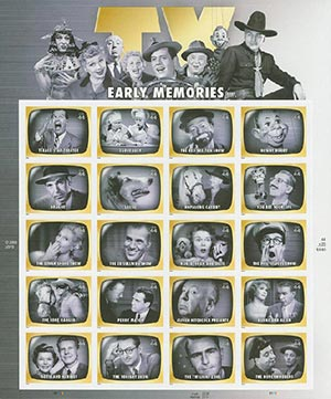 U.S. #4414 – Early T.V. Memories sheet.