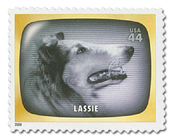 2009 44c Early TV Memories Lassie