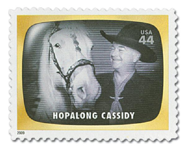2009 44c Early TV Memories: Hopalong Cassidy