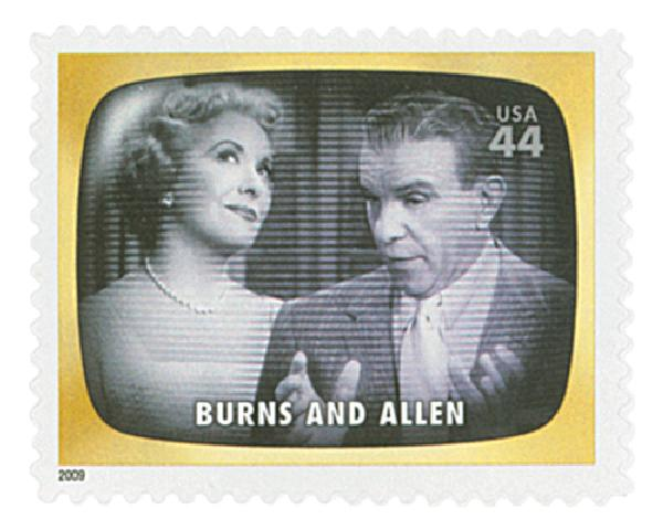 2009 44c Early TV Memories: Burns and Allen