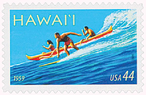 U.S. postage stamp issued in 2009 commemorating the 50th anniversary of Hawaii's admission to the union.