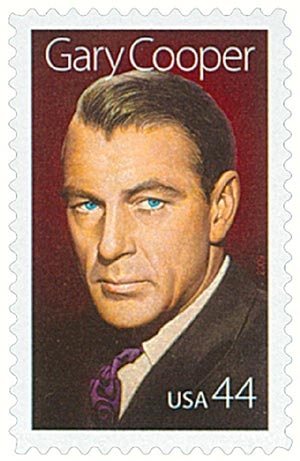 U.S. #4421 – Cooper was the 15th honoree in the Legends of Hollywood series.