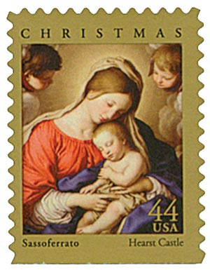 2009 44c Traditional Christmas: Madonna and Sleeping Child