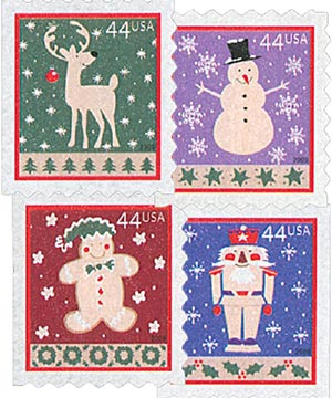 2009 44c Contemporary Christmas: Winter Holidays, ATM booklet