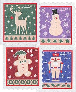 2009 44c Contemporary Christmas: Winter Holidays, ATM booklet
