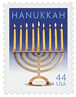 U.S. #4433 – Hanukkah is a Jewish festival that celebrates the rededication of the Temple of Jerusalem and a miracle that occurred there.