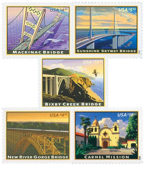 2010-12 Priority and Express Mail, set of 5 stamps