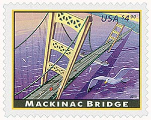 U.S. #4438 – 2010 Mackinac Bridge Express mail stamp.