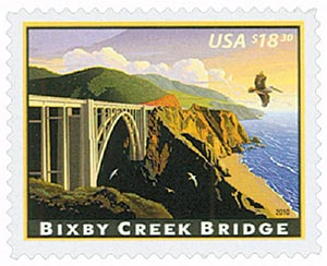 2010 $18.30 Bixby Creek Bridge, Express Mail