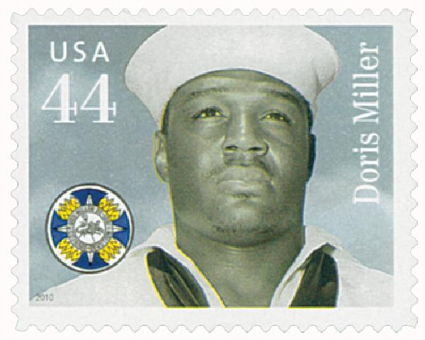 U.S. #4443 – Click to read about Miller's heroics at Pearl Harbor.