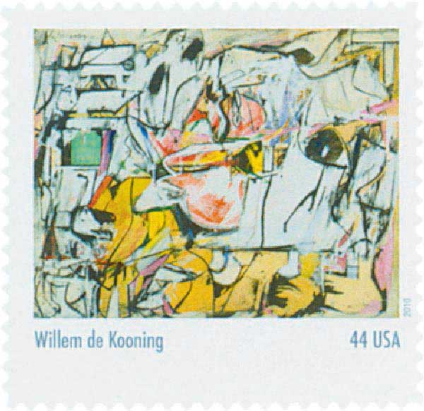 2010 44c Abstract Expressionist: Willem de Kooning