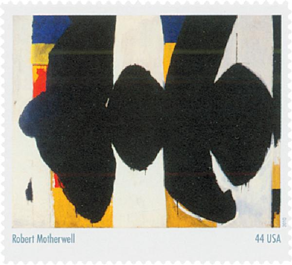 2010 44c Abstract Expressionist: Robert Motherwell