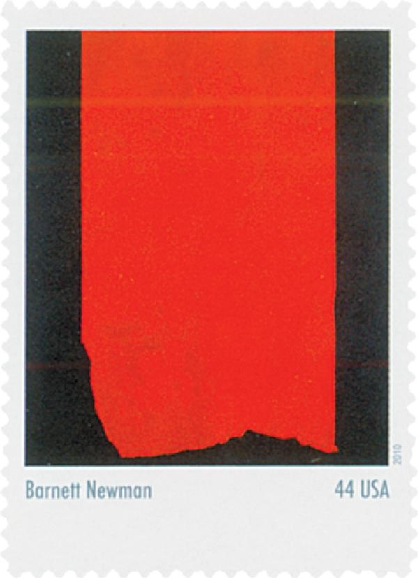 2010 44c Abstract Expressionist: Barnet Newman