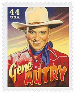 2010 44c Cowboys of the Silver Screen - Gene Autry