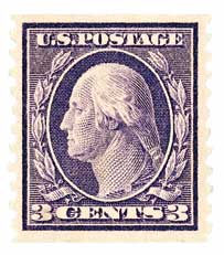 1914 3c Washington, violet