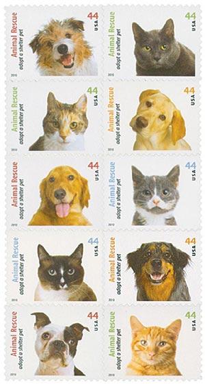 2010 44c Adopt a Shelter Pet
