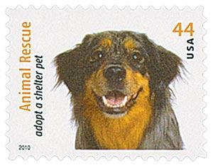 2010 44c Adopt a Shelter Pet: Australian Shepherd