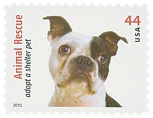 2010 44c Adopt a Shelter Pet: Boston Terrier