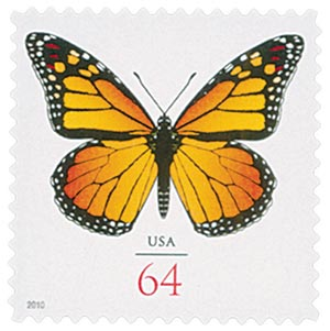2010 64c Monarch Butterfly