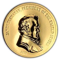 1993 Buchanan Gold Plated Medal & Capsule