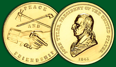 1993 Tyler Gold Plated Medal & Capsule