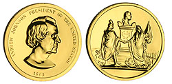1993 A. Johnson Gold Plated Medal & Capsule