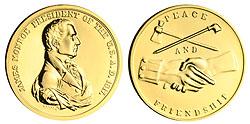 1993 Monroe Gold Plated Medal & Capsule