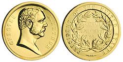 1993 Arthur Gold Plated Medal & Capsule