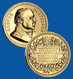 1993 Cleveland Gold Plated Medal