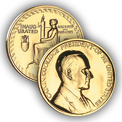 1992 Coolidge Gold Plated Medal & Capsule