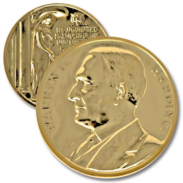 1992 Harding Gold Plated Medal & Capsule