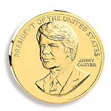 1992 Carter Gold Plated Medal & Capsule