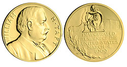 1993 Taft Gold Plated Medal & Capsule
