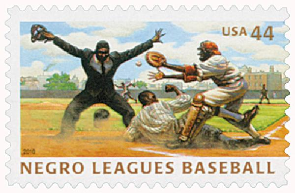 2010 44c Negro Leagues Baseball: Play at the Plate