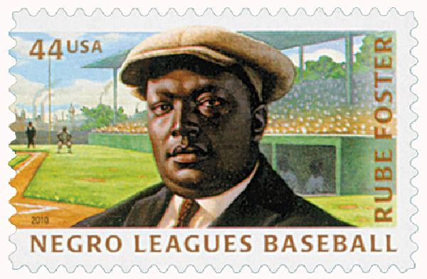 2010 44c Negro Leagues Baseball: Rube Foster