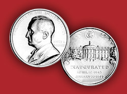 1993 Truman Platinum Medal & Capsule