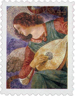 2010 44c Angel with Lute