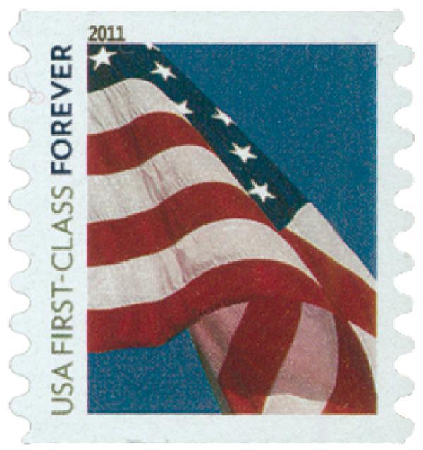 2010 First-Class Forever Stamp -  Flag Forever (Sennett Security)